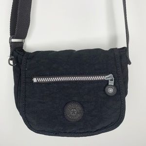 Kipling Black Foldover Mini Crossbody Bag